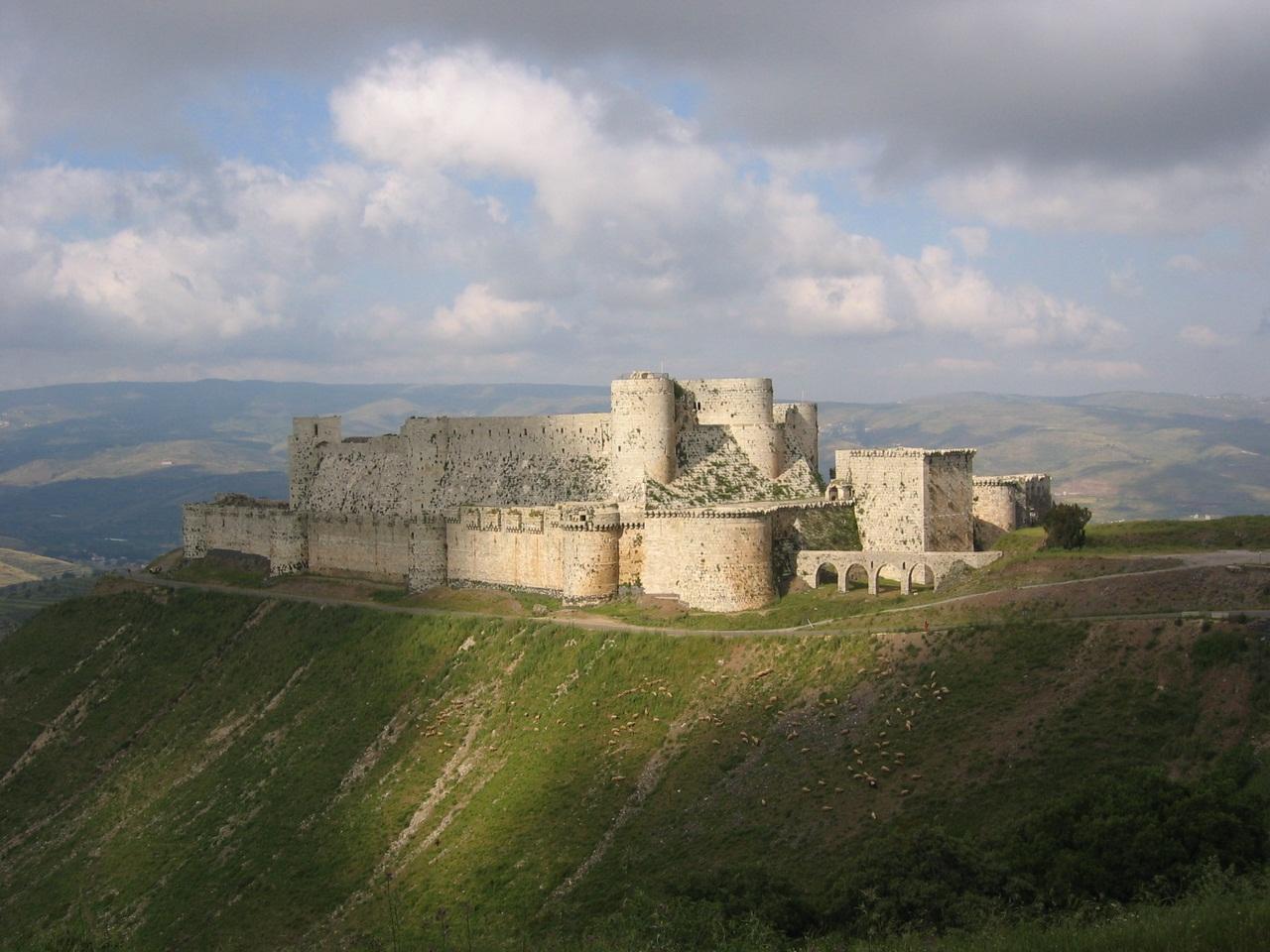 Крепость в Сирии: Крак де Шевалье (Krak des Chevaliers)