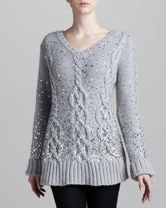 Арановая башня от Donna Karan - свитер спицами