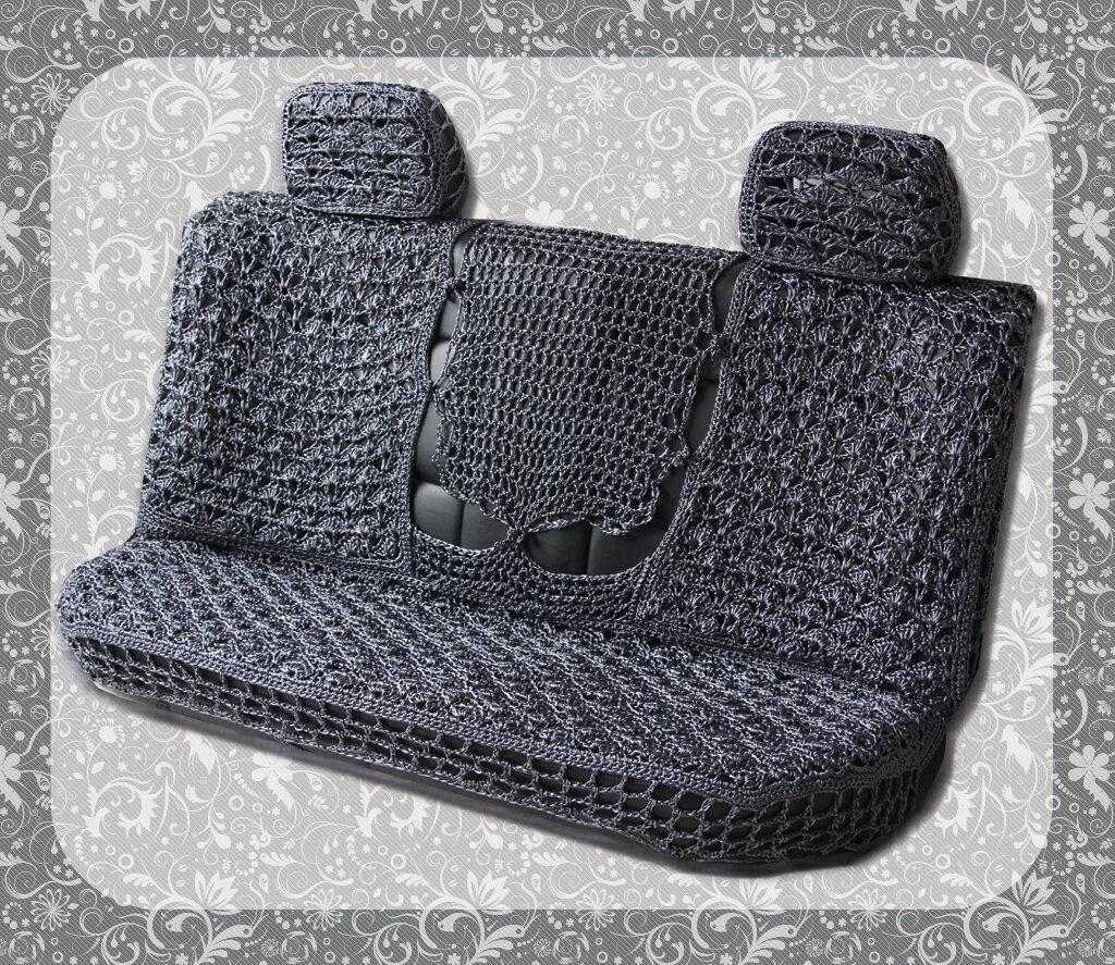 плетеные авточехлы  - заднее сидение