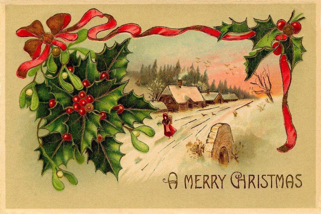 Старые английские открытки с новым годом