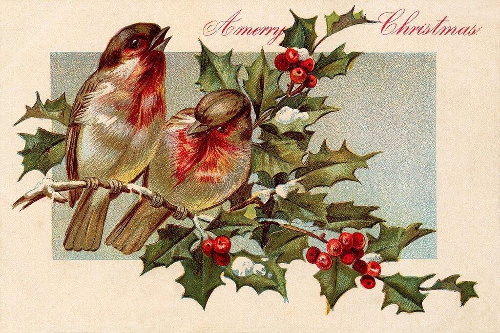 Открытка, новогодние винтажные открытки