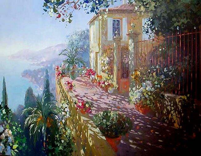 Солнечные зайчики на картинах Лорана Парселье