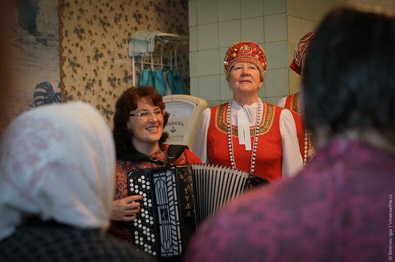 Выступление завершилось песней о Малышевском Доме-интернате, которую сочинил Б. Я. Кольчак