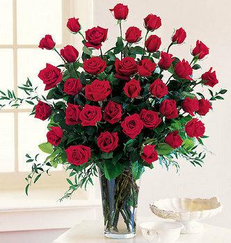 Букет красных роз стоит рядом с окном открытка поздравление картинка