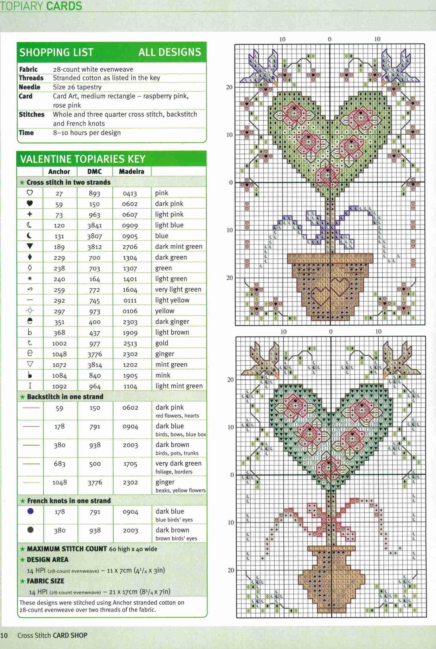 Вышивка крестом топиарий схема 18
