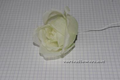Роза из ткани своими руками.