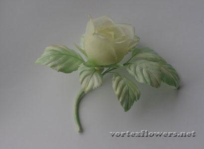 Роза из шёлка своими руками, выкройка, схема