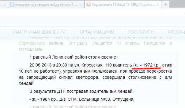 Сводка ДТП за 26 августа 2013 года