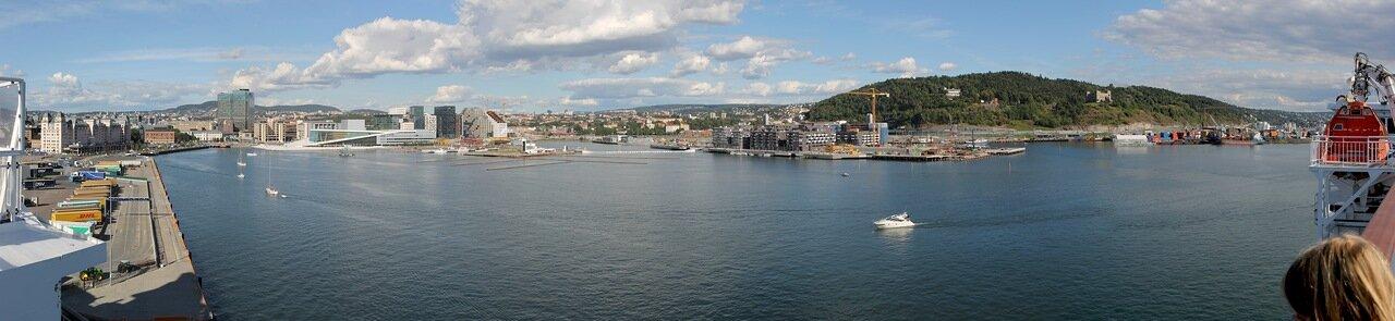 Oslo. Bjørvika Gulf. Panorama