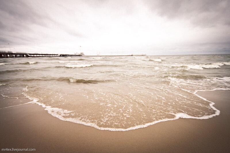 Польша, Сопот, Польская Балтика, Пляж в Сопоте, море в Польше
