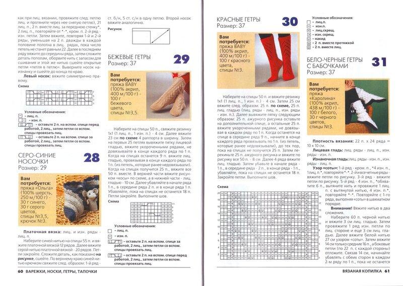 Гетры спицами. 19 схем вязания 61
