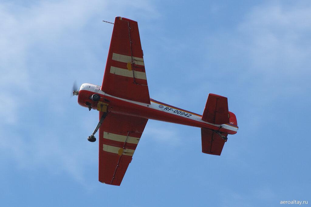 Як-55 RF-00942 ДОСААФ с аэродрома Лесной