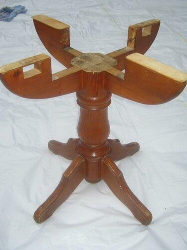 Изготовление круглого стола из дерева своими руками 59