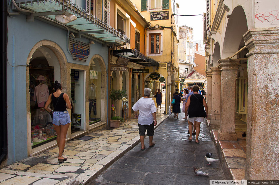 Пешеходная улица Керкиры