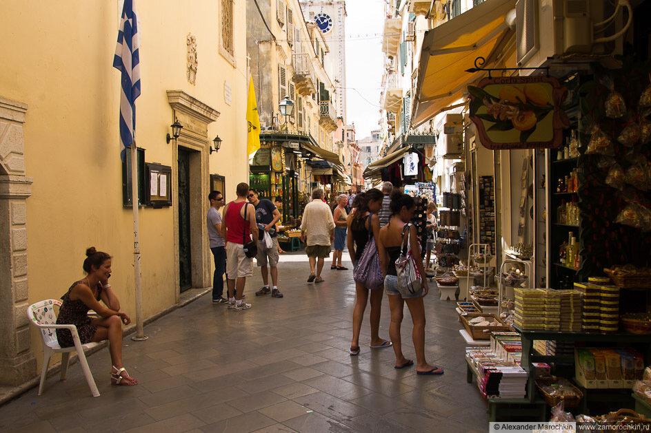 Торговля на улицах Керкиры, Корфу, Греция
