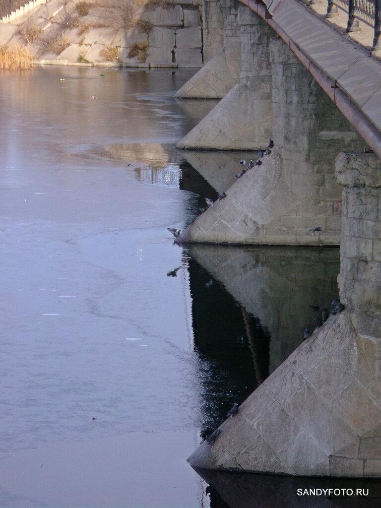 Река Увелька замёрзла (Троицк, Челябинская область)