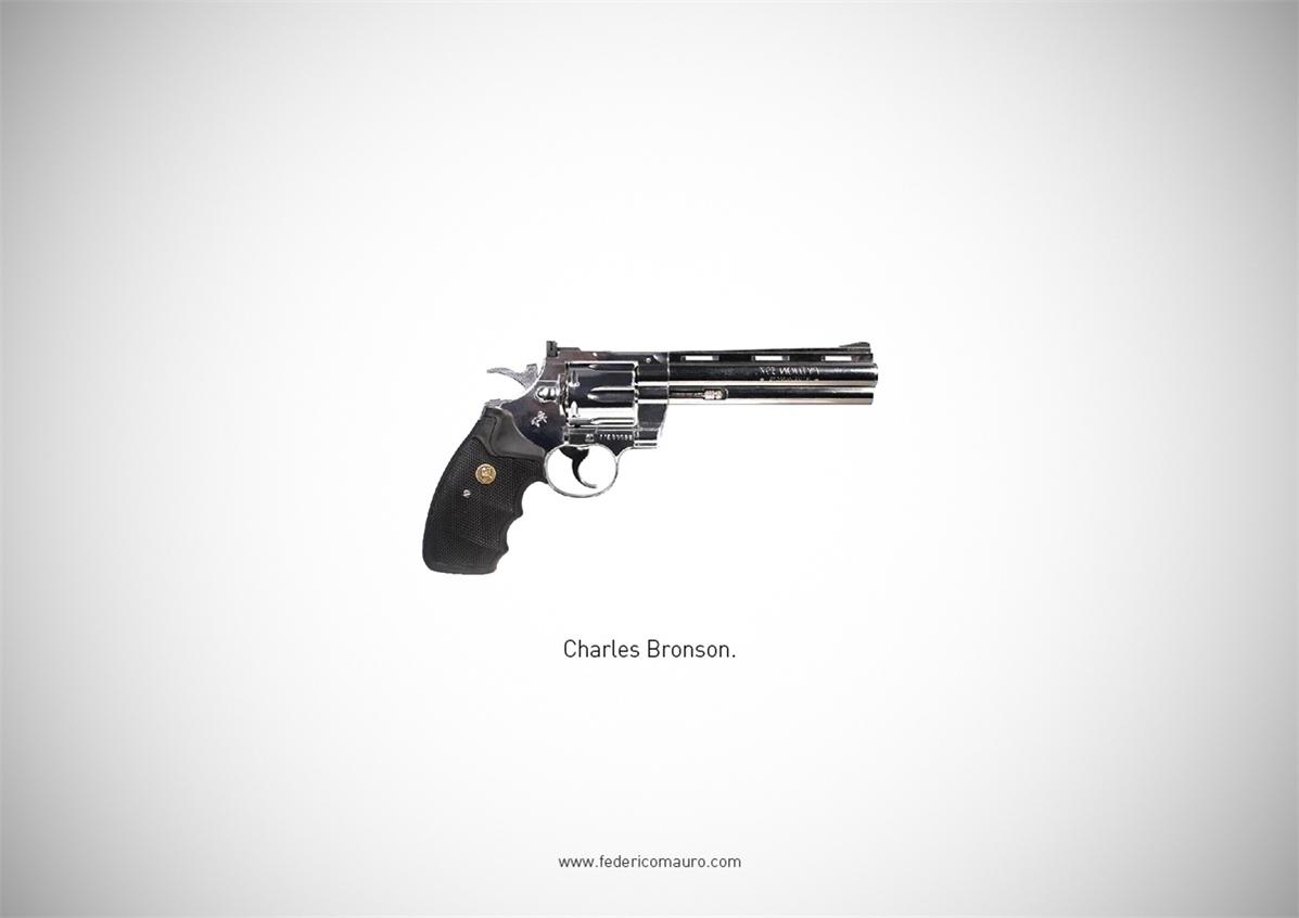 Знаменитые пушки - оружие культовых персонажей / Famous Guns by Federico Mauro - Charles Bronson