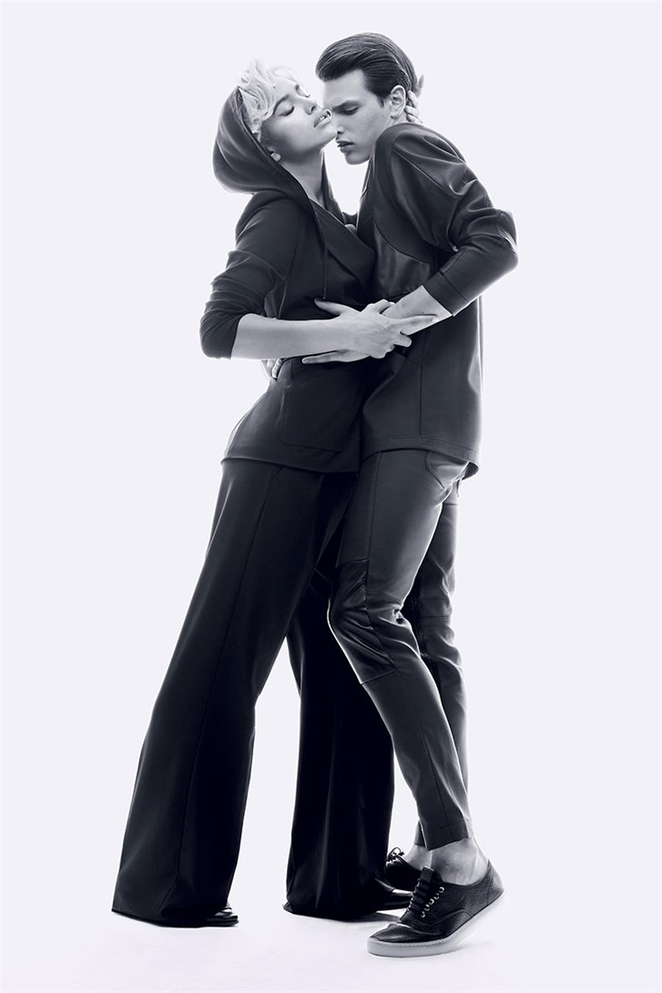 Ирина Шейк и Симон ван Меервенн / Irina Shayk & Simon Van Meervenne - Romeo & Juliet by Max von Gumppenberg & Patrick Bienert in Harper's Bazaar US november 2013