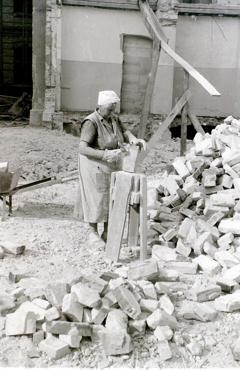 8 сентября 1959. Строительная площадка рядом с Александерплац, Восточный Берлин