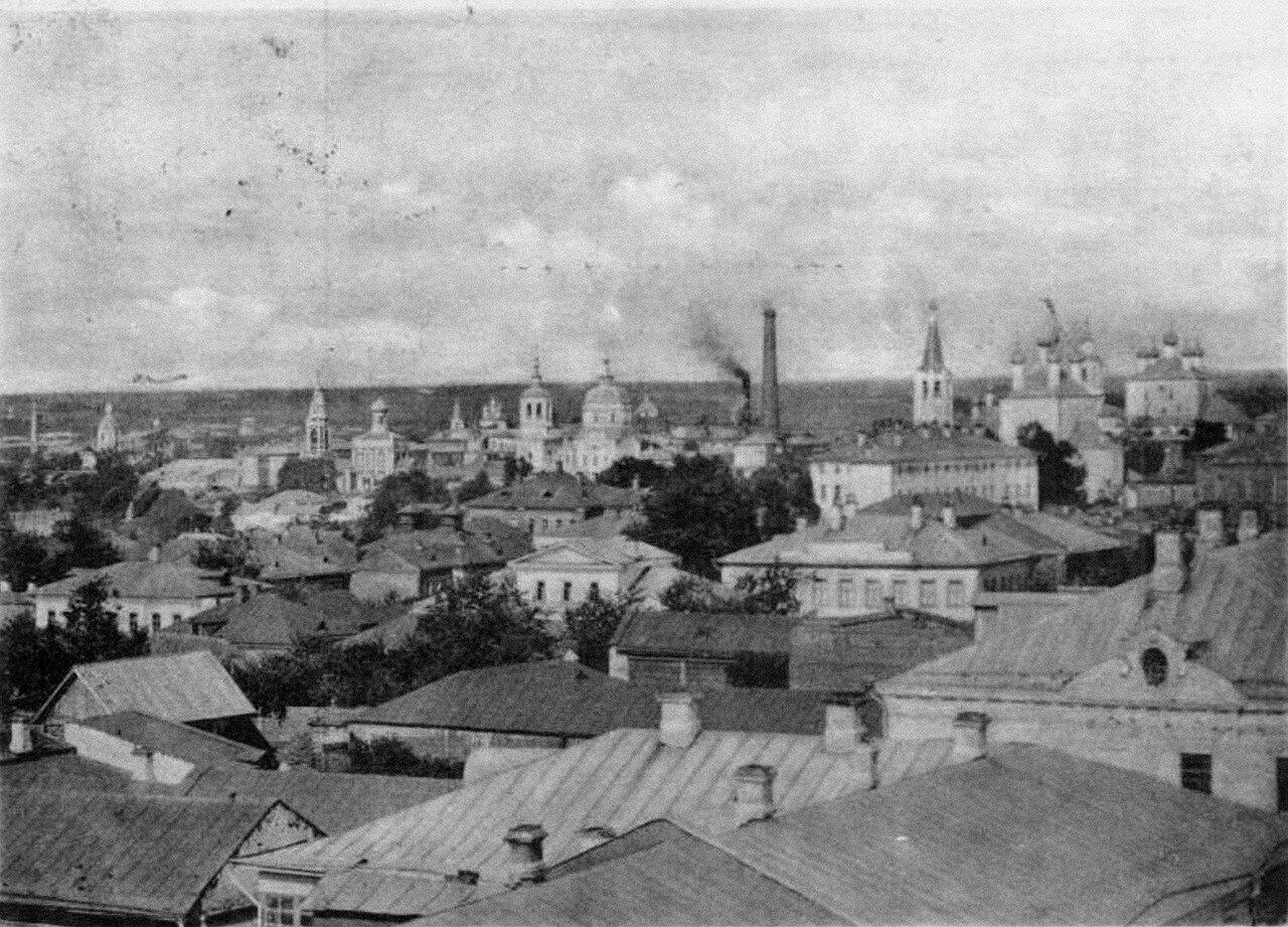 Вид на город с колокольни Александровской церкви