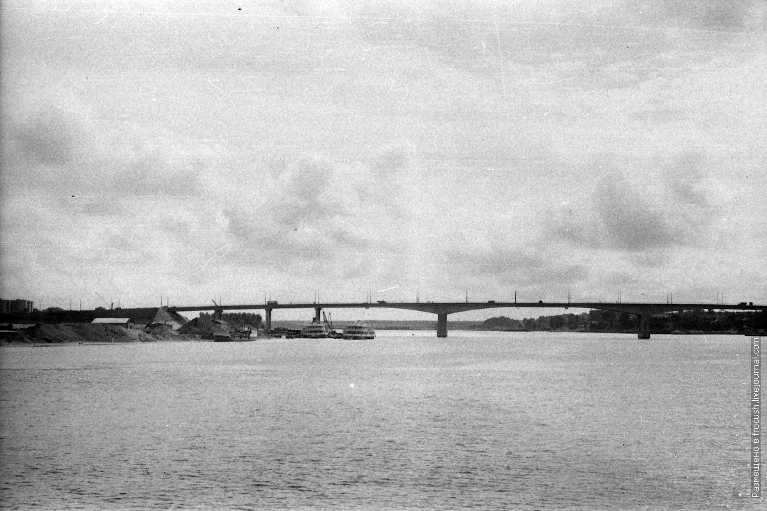 Река Волга. Кимры фотография 1985 года