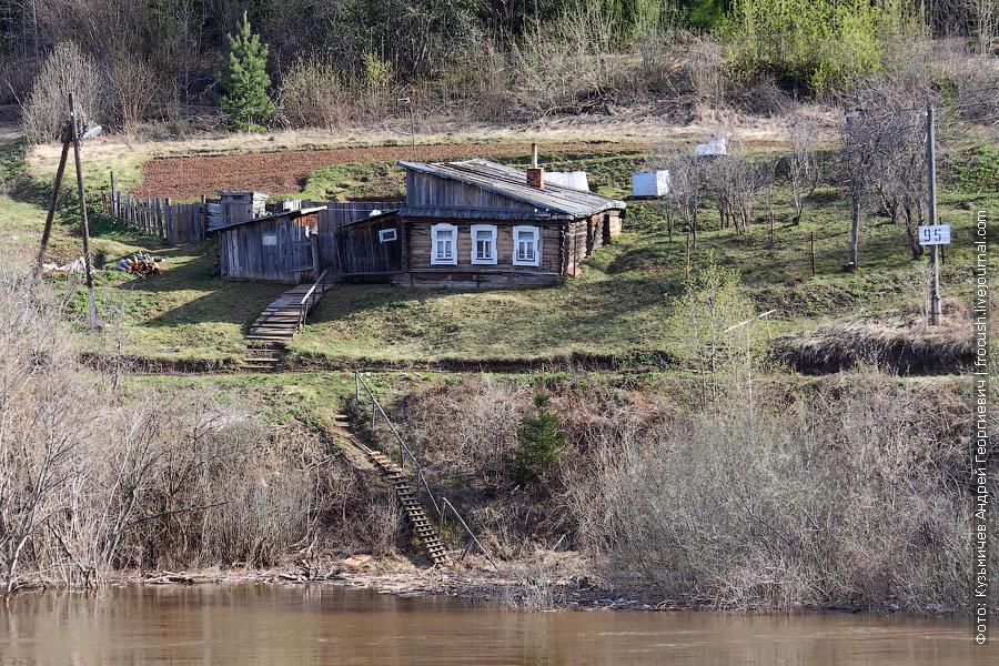 дом на берегу Вятки