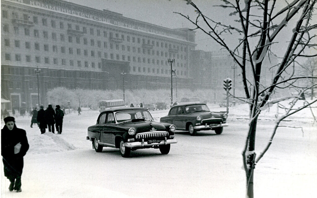 Chelyabinsk 1950s. The City Hall in Central Square