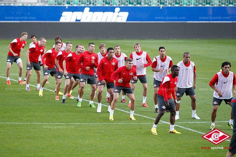 Тренировка «Спартака» перед матчем с «Санкт-Галленом» (Фото)