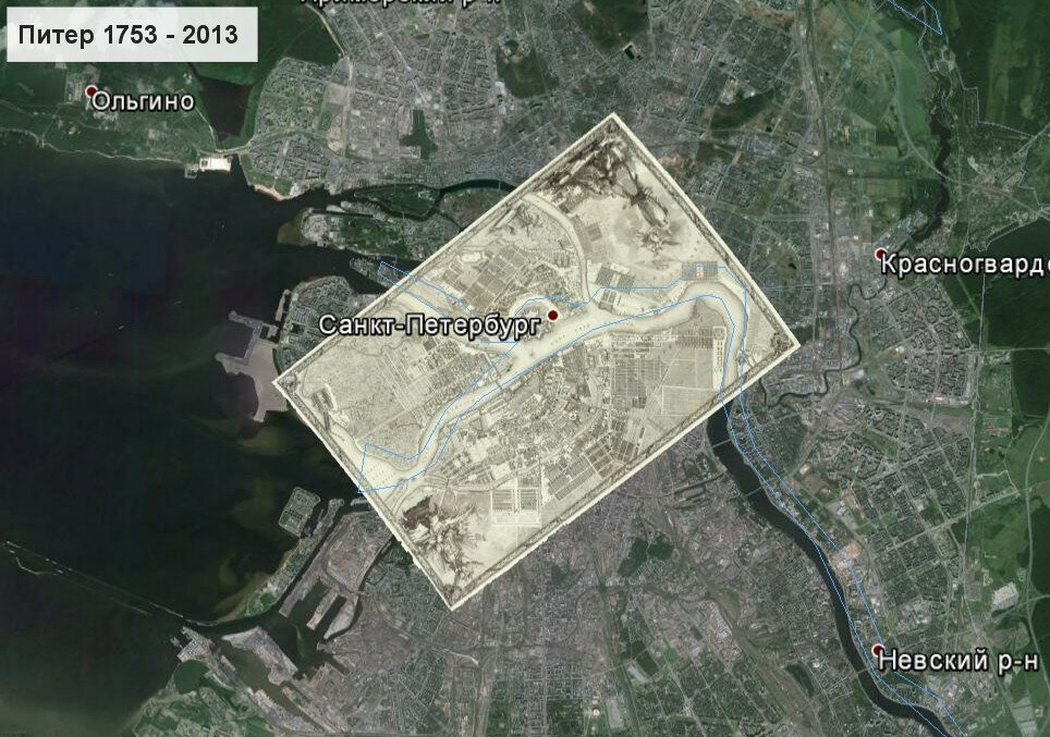 Москва и Санкт-Петербург 300 лет назад