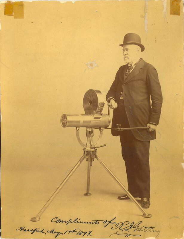 Gatling Gun, Model 1893, with Richard Gatling