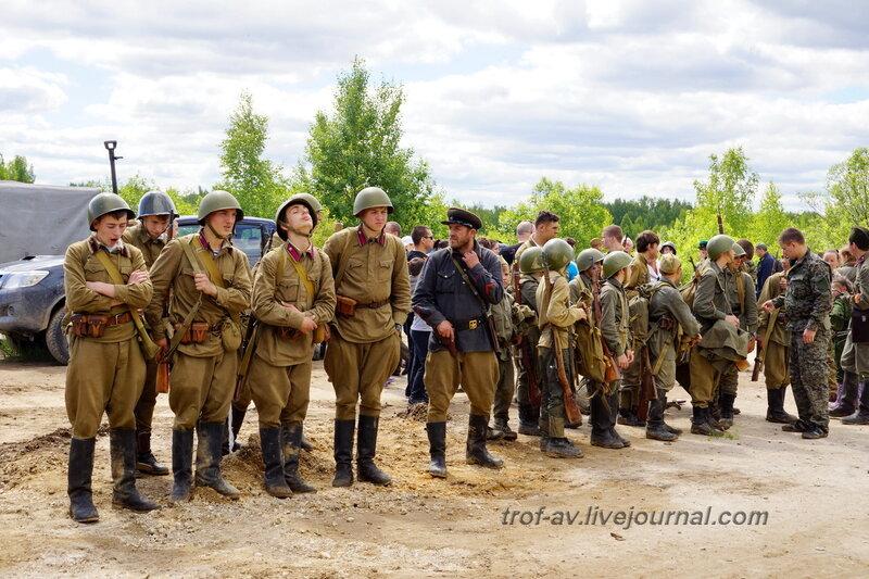 Построение после боя. 22 июня, реконструкция начала ВОВ в Кубинке (2 часть)
