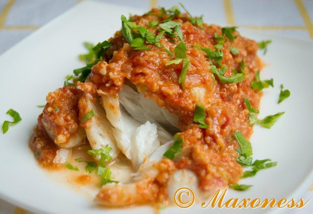 Треска с соусом ромеско от Гордона Рамзи. Испанская кухня