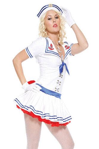 Женский карнавальный костюм морячки
