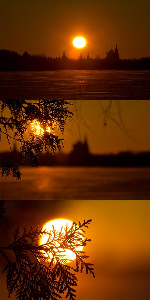 Рассвет над Иверским монастырём