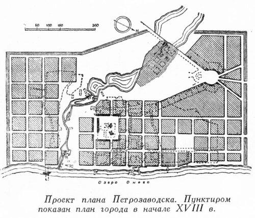 Генплан города Петрозаводска в начале 18 века