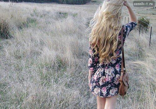 Фото девушка спиной уходит