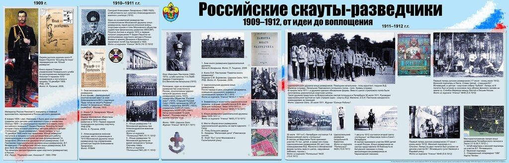 Российские скауты-разведчики, 1909-1912, от идеи до воплощения