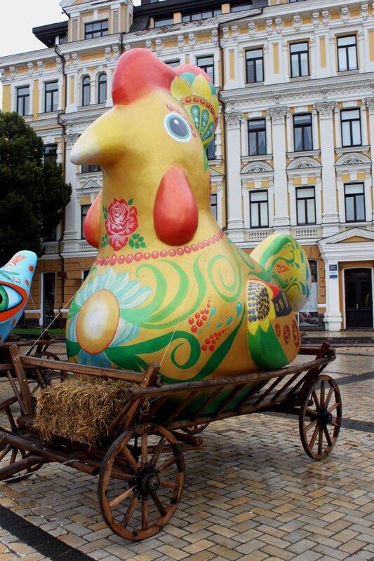Выставка Чудо-птиц Софиевская площадь киев