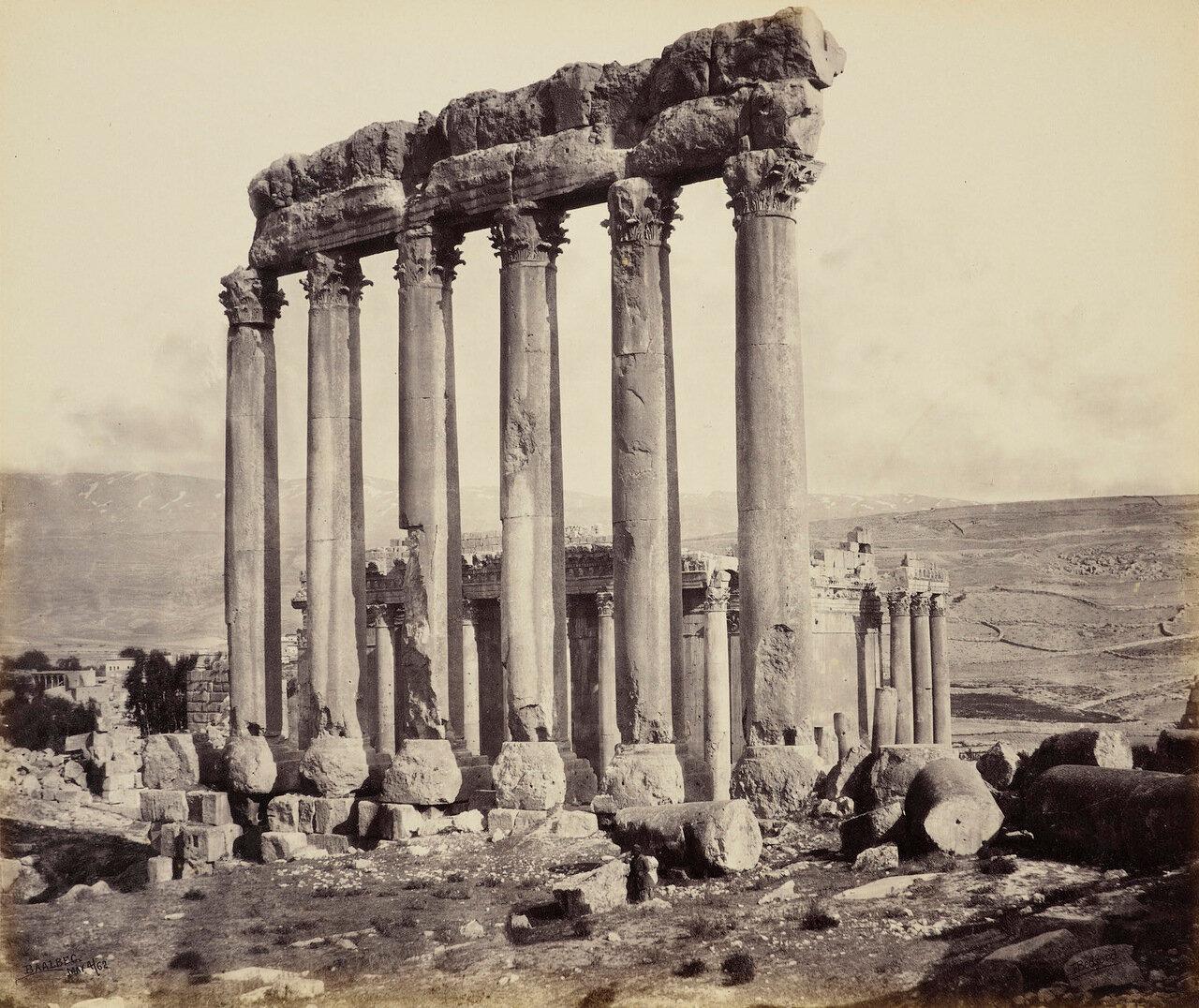 4 мая 1862. Храм Солнца и Храм Юпитера.Баальбек