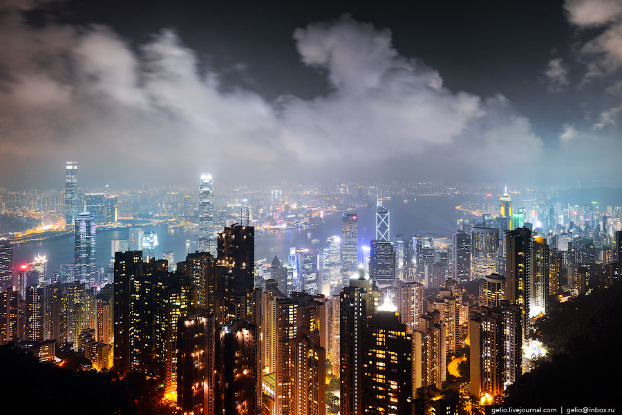 Hong Kong from above