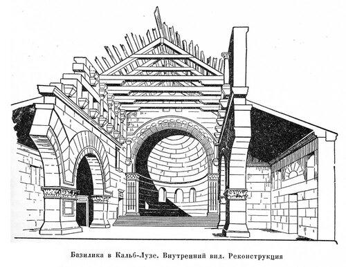 Базилика в Кальб-Лузе, внутренний вид, реконструкция
