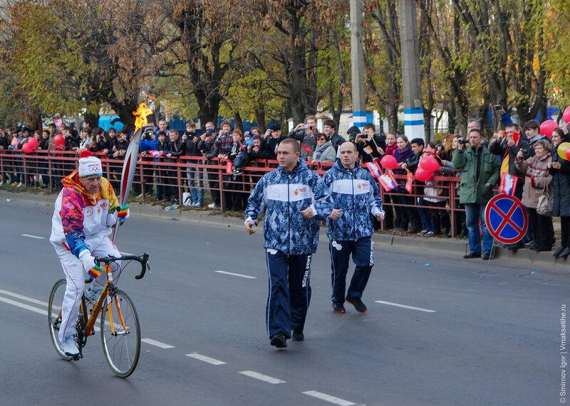 Столица Верхневолжья 11 октября встретила Олимпийский огонь