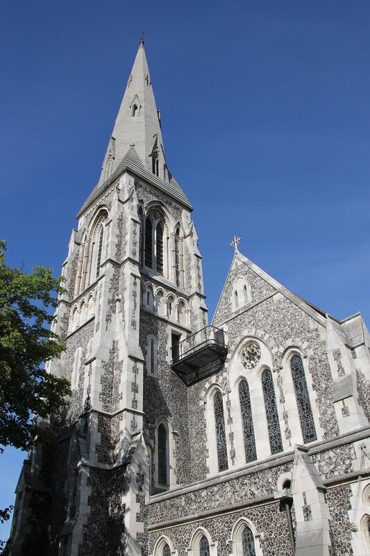 Copenhagen. The Anglican Church of St. Alban (Sankt Albani Kirke)