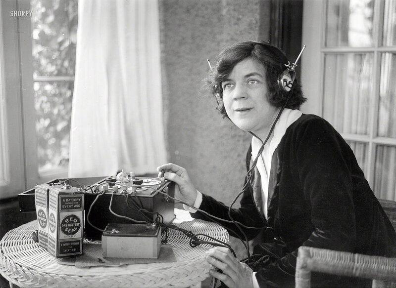 Circa 1921 in New York, the British pianist and conductor Ethel Leginska