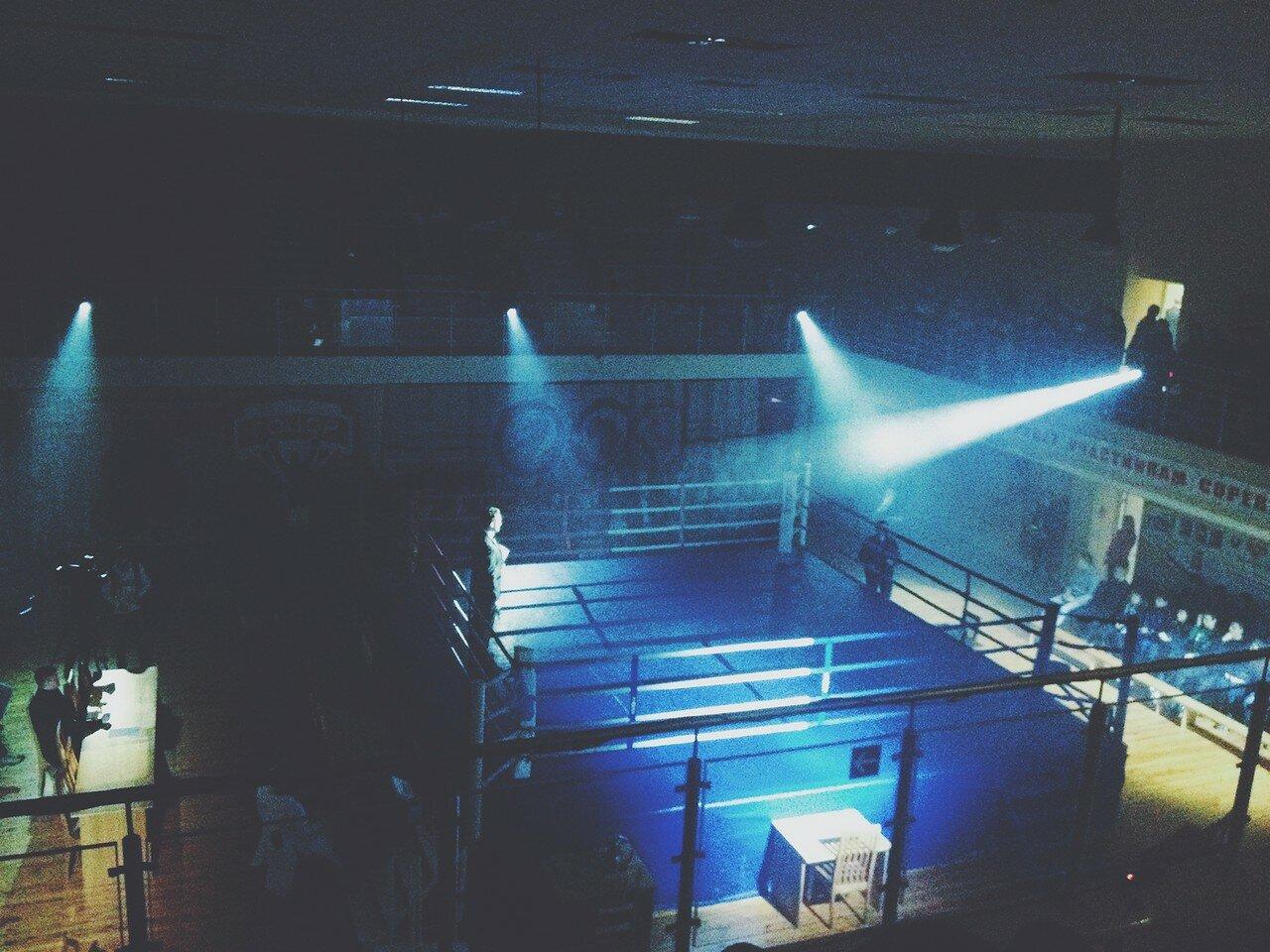 Ведущий Сергей Черешко / Вечер профессионального бокса в Гомеле