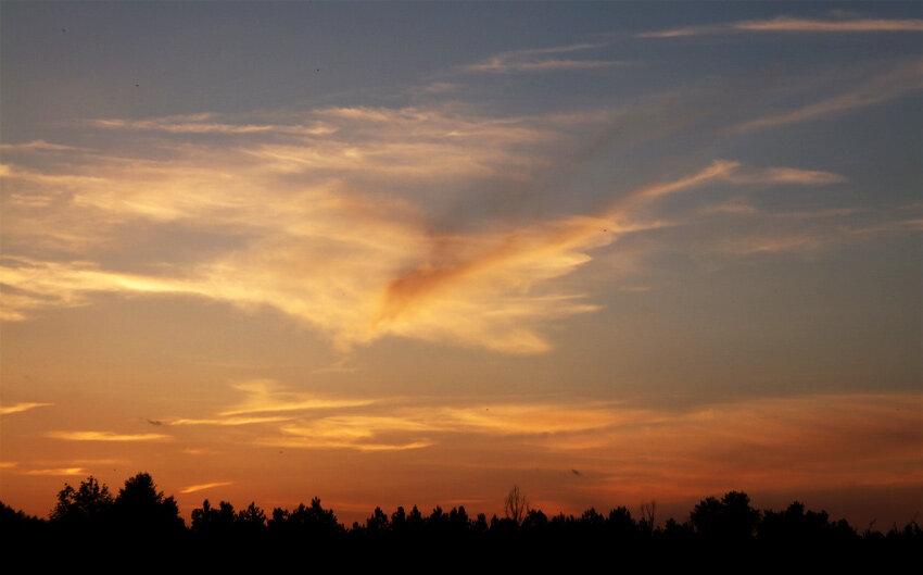 закат на Десне