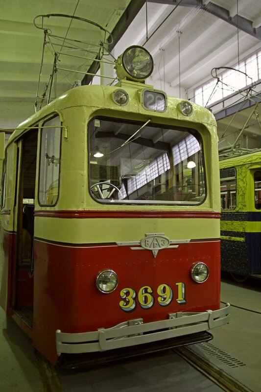 Трамвайный вагон ЛМ-49 «Слон» №3691 в музее городского электрического транспорта IMG_8761