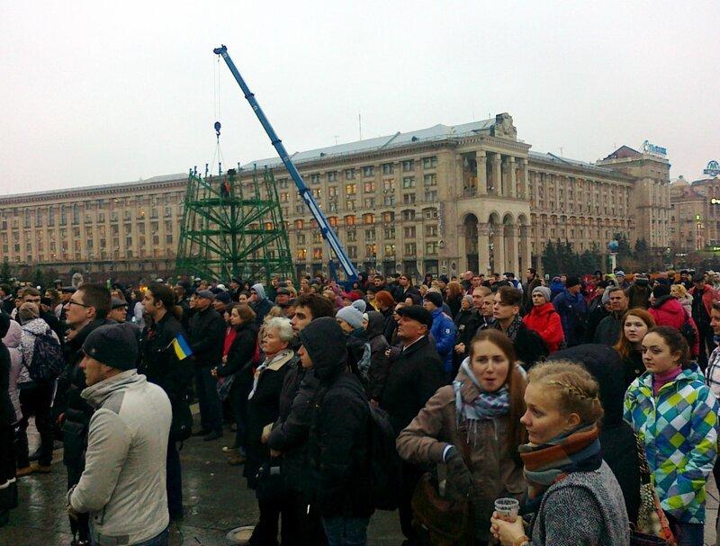 Евромайдан на Майдане Незалежности