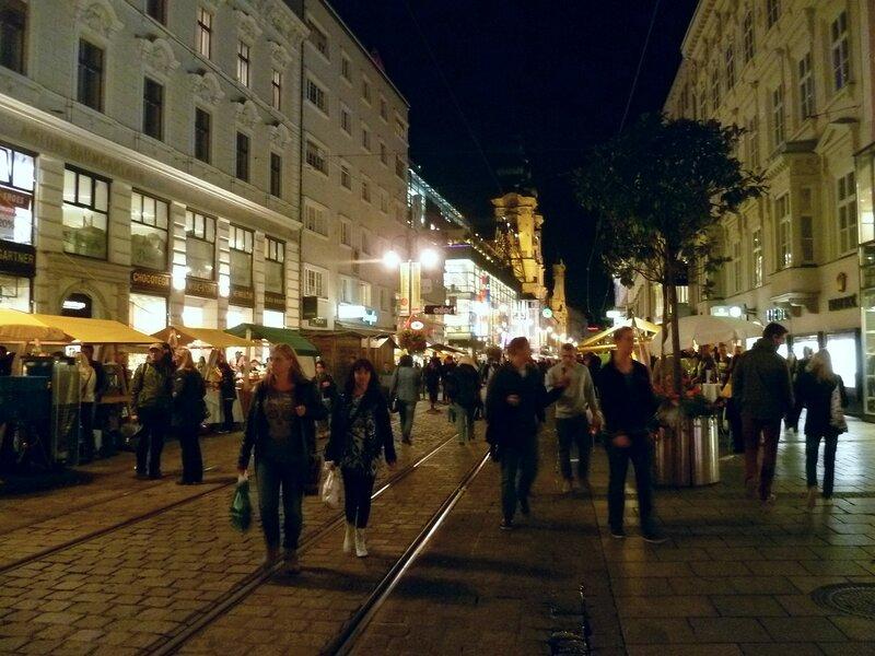 Улицы в Линце, Австрия (Streets in Linz, Austria)