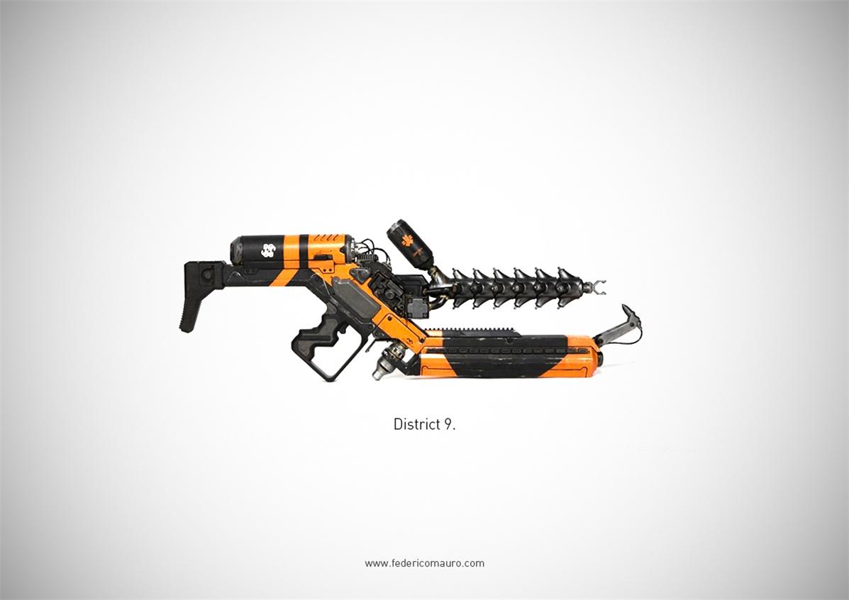 Знаменитые пушки - оружие культовых персонажей / Famous Guns by Federico Mauro - District 9